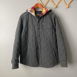 Billabong Quilted Hooded Shacket Coat